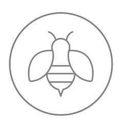 Bee line icon vector
