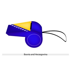 Blue and Yellow on Bosnia and Herzegovina Whistle vector image vector image