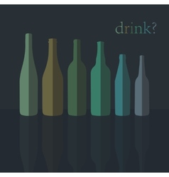Bottles icons flat design vector
