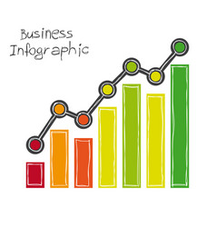 business infographic freehand drawing vector image