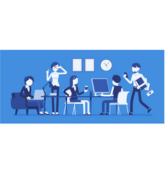 busy day in a small office vector image