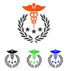 Caduceus logo flat icon vector