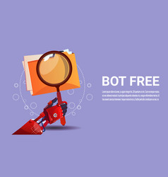 chat bot search robot virtual assistance of vector image vector image