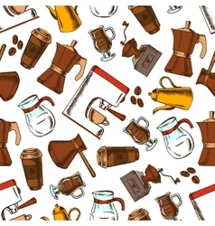 Coffee makers seamless pattern background vector