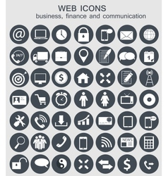 Different business finance and communication icons vector