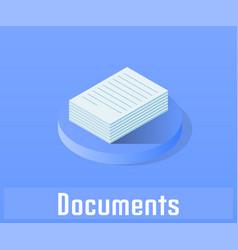 document icon symbol vector image vector image