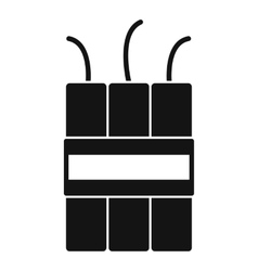 Dynamite explosives icon simple style vector