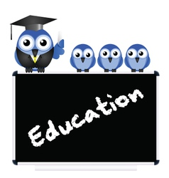 Education message vector image