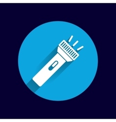 flashlight icon torch pocket light shine vector image