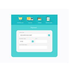 Flat checkout design vector