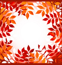 floral background with orange and red leaves and vector image