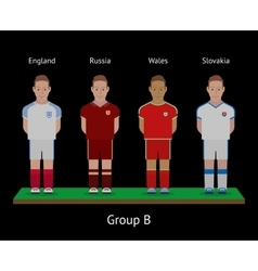 Football players Soccer teams England Russia vector image