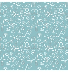 Green Medical Seamless Pattern vector image vector image