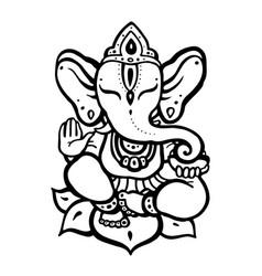 Hindu god ganesha vector
