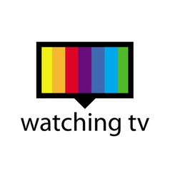 Logo with a spectrum in the tv screen vector