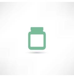 medicine jar vector image vector image