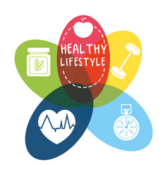 Nice healthy lifestyle icons design vector