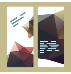 Polygonal decorational element vector image vector image