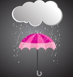 Rainy day rainy umbrella vector