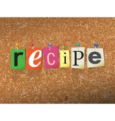 Recipe concept vector
