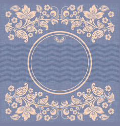 Retro circle frame russian style vector