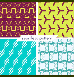 Set of four seamless geometrical patterns 12 vector