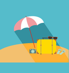 umbrella on the beach vector image vector image