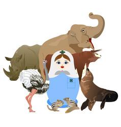 Veterinary surgeon vector