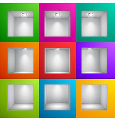 wall shelf colored vector image
