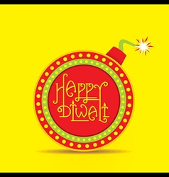 happy diwali festival greeting and poster design vector image