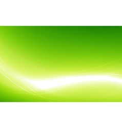 Abstract green background with white wave vector image