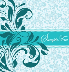 Blue floral document template vector
