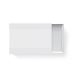 Blank empty white paper packaging matchbook vector