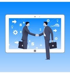 Internet deal business concept vector