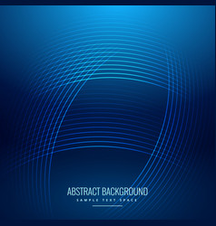 Blue background with shiny curve lines vector