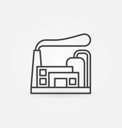factory and industrial business icon vector image