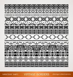 Vintage style ornamental borders vector image