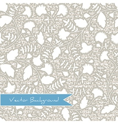 seamless texture pattern with silhouettes of flowe vector image