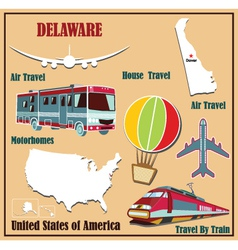 Flat map of delaware vector