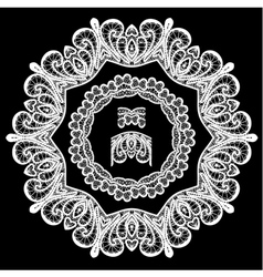 lace round 7 380 vector image