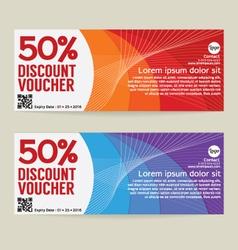 50 percen discount voucher modern template design vector