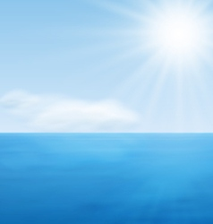 Sea landscape calm blue ocean vector