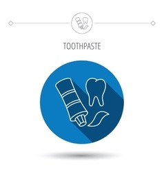 Toothpaste icon teeth health care sign vector