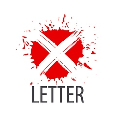 Logo letter x in the form of blots vector