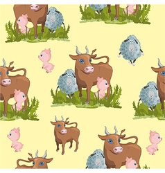 Farm animal pattern vector