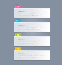 Infographics template for business education web vector