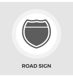 Road sign flat icon vector