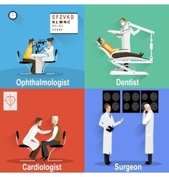 Themed pictures on the topic of medical and health vector