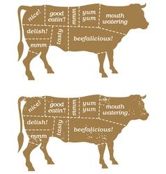 Barbecue cow design element vector