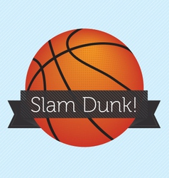 Slam dunk banner vector